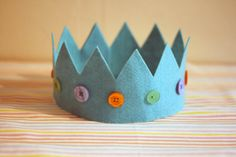 Children's Felt Crowns  Great for Parties Festivals by HAHonline, £4.95