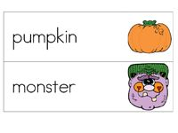 Halloween Word Cards  - Pinned by @PediaStaff – Please Visit ht.ly/63sNtfor all our pediatric therapy pins