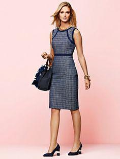 Talbots - Plaid Tweed Dress | New Arrivals | Misses