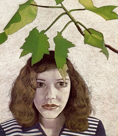 Girl with Leaves - Lucian Freud