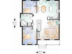 simple single story 2 bedroom house plans google search - 2 Bedroom House Plans