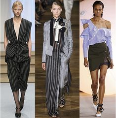 The SS17 runways featured pinstripes in a thousand different ways.