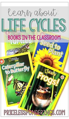 Teach students about life cycles by using these easy and free resource ideas. This includes videos, books, anchor charts and more! Fourth Grade Science, Primary Science, Elementary Science, Science Resources, Science Activities, Teaching Science, Teacher Freebies, Teacher Blogs, National Geographic Kids