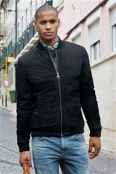 Navy Waxed Harrington Jacket from Next | RJ | Pinterest | Shops ...