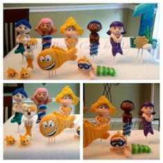 Custom Gumpaste Bubble Guppies Inspired Cake by WayBeyondCakes, $17.50