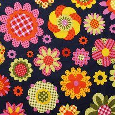 Hippie Blume-Baumwollwebstoff von Aktivstoffe #Dessins #Kinderstoffe #Stoffe #Nähen #DIY #Motive #Retro #Aktivstoffe