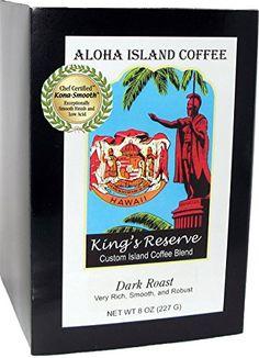 DARK ROAST Roast Senseo Pods, Kings Reserve Kona Hawaiian Bend, Box of 18 Pods, Reusable Pod Adapter Is Available for Eco-friendly K-cup Brewing Aloha Island Coffee http://www.amazon.com/dp/B00W0N31CY/ref=cm_sw_r_pi_dp_MtSrvb01P0KRQ