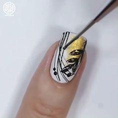 Nail Art Designs Videos, Nail Art Videos, Foil Nail Designs, Pretty Nail Art, Beautiful Nail Art, Nail Art Hacks, Nail Art Diy, Stylish Nails, Trendy Nails