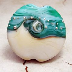 Handmade Lampwork Glass Focal Bead, Oceans, Made to Order | StoneDesigns - Jewelry on ArtFire