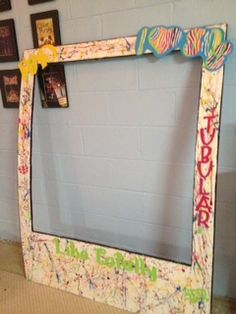 Polaroid frame for photo booth for 80s party