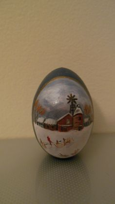 Hand painted egg barn
