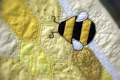 Bumble Bee Baby Quilt by PieBirdQuilts on Etsy