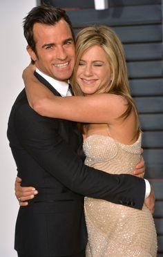 Pin for Later: Die 55 besten Bilder der Oscars 2015 Justin Theroux und Jennifer Aniston