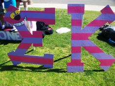 """Sigma Kappa G reek Week Letters Alice in Wonderland One of our themes for our school's Greek Week was based off Disney's """"Alice. Greek Week, Greek Life, Recruitment Themes, Disney Letters, Bid Day Themes, Sorority Letters, Alice In Wonderland Theme, Sigma Kappa, Decoration"""