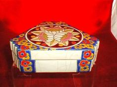 FRENCH LONGWY BOX AND COVER