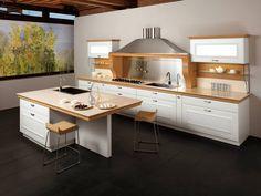 Mobile Kücheninsel Und Hellblauer Retro Kühlschrank | Wohnideen Küche |  Pinterest | Retro