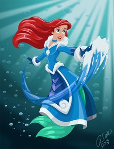 Water Bender Ariel. You don't even understand how much I love this.