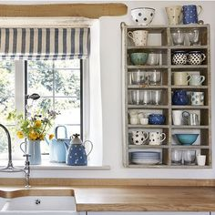 Antique kitchen shelf unit | Kitchen shelving | Kitchen | PHOTO GALLERY | Beautiful Kitchens | Housetohome.co.uk