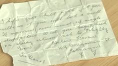 "Mystery poem found in World War One kilt: A hidden poem from a Glasgow woman has been found sewn into the folds of a World War One kilt owned by a Southampton academic. Dr Helen Paul discovered the hand-written message when she was removing the packing stitches from the kilt, which has been passed down her family. The note is a poem with lines including: ""If married never mind, if single drop a line"". It is signed by Helen Govan, of 49 Ardgowan Street in Glasgow."