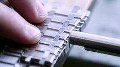 Making of the Audemars Piguet royal oak bracelet. Audemars Piguet Royal Oak, Fine Watches, Bracelets, How To Make, Watch Video, Youtube, Study, Clocks, Clock Art