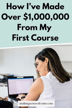How I've Made Over $1,000,000 From My First Course Without a Big Launch Make Money Blogging, How To Make Money, Business Tips, Online Courses, How To Start A Blog, Product Launch