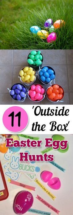 11 amazing ways to mix up your usual Easter Egg hunt.