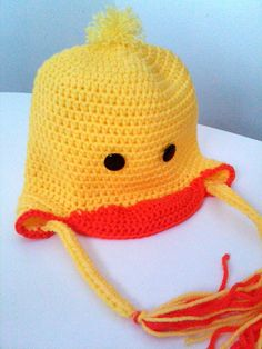 Toddler Hat with Earflaps and Brim  Cute Yellow by HoneyBeeAffairs, $22.00  www.honeybeeaffairs.etsy.com