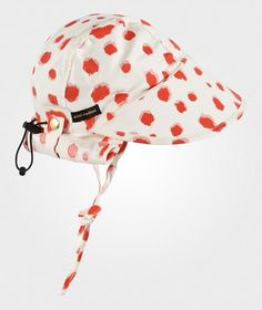 Mini Rodini Taches Aop Sun Cap Red Red