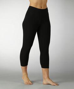 Look at this Marika Magic by Marika Black Tummy-Control Capri Leggings on #zulily today!