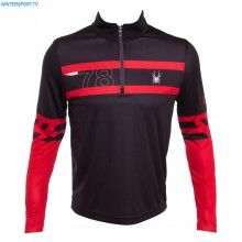 Spyder Men Heritage Dry W.E.B First Layer T Neck – Black Red Polar