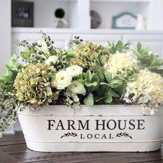 Farmhouse floral centerpiece