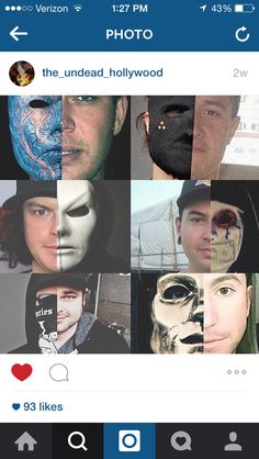 Masks of Hollywood Undead and half of their faces appearing #HU