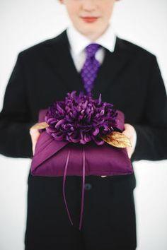 Purple Luxe Ring Bearer Pillow #wedding