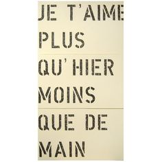 Sugarboo Designs Je T'aime Antique Sign ($320) ❤ liked on Polyvore featuring home, home decor, wall art, text, words, quotes, backgrounds, pics, phrase and saying