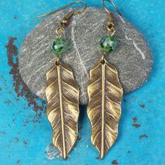 Wear When Climbing Trees Earrings  leaf charm  by MySoulCanDance, $10.00