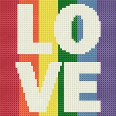 Celebrating Marriage Equality for Everyone!!! <3 Love is Love free cross stitch pattern from Stitching the Night Away