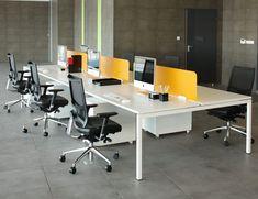 Nova desk | Nova bench desks | Storage