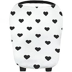 Multi-Use Car Seat Cover Lightweight Soft Stretchy Fabric in Black and White Stripes Cart Cover Best Stroller High Chair Nursing Cover Inspired Design Studio Nursing Breastfeeding Cover Poncho