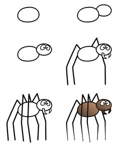 How to draw a spider step 3