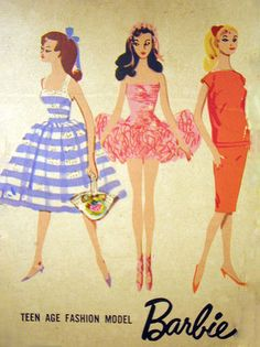 Vintage Barbie Box Artwork