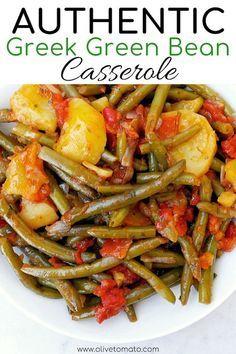 Greek Green Bean Casserole Food Mediterranean Diet