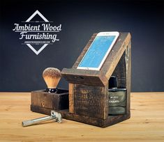 Palette Wood Bedside Utility Storage Box Electronic от AmbientWood