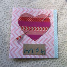 Cartões de Dia dos Namorados de fita adesiva decorativa
