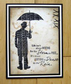 Splitcoaststampers FOOGallery - Umbrella Man