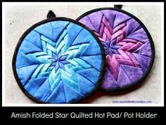 Folded Star Quilted Hot Pad