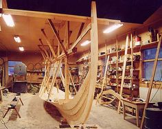 Viking ship building techniques were quite different from the more common carvel tradition, in which the ship's skeleton is built first, and then the outer shell built around it. Vikings did the complete opposite, building the outer shell first, and then reinforcing it with ribs.   This craft was passed down from master to apprentice and is still practiced today, although much less commonly.