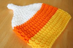 Crochet Candy Corn Hat crochet photo prop baby by JandEdoodles, $18.00
