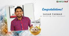 Kudos on winning the lunch coupon. Celebrate it with some yummy food! #UnitedTax #Contest#Winner