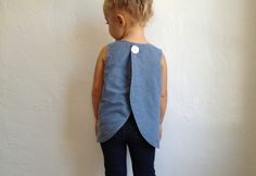 NEW tulip pinafore top / pdf sewing pattern 12 months to 5t EASY SEWING. $5,95, via Etsy.