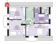 Projekt domu - Dom przy Alabastrowej 20 115.00m² | GALERIADOMOW.PL House With Balcony, Micro House, Design Case, Minimalist Home, Future House, Beautiful Homes, House Plans, Floor Plans, Farmhouse